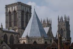 York Inglaterra Reino Unido Vista de la iglesia de monasterio de York, una el ` s del mundo la mayoría de las catedrales magnífic fotos de archivo
