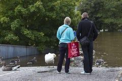 York inunda - Sept.2012 - o Reino Unido Imagens de Stock Royalty Free