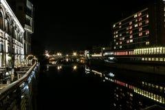 York la nuit Photographie stock libre de droits