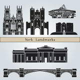 York landmarks and monuments Royalty Free Stock Images