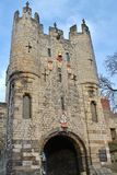 York Micklegate, York, North Yorkshire. The entrance to York. The town walls Royalty Free Stock Image