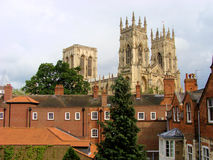 York Minster. A view of York Minster over the rooftops of York, England Royalty Free Stock Photo