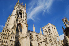 York Minster. Towers from street level Stock Photos