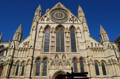 York Minster. South Face from street level Royalty Free Stock Image
