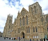 York Minster. (England's largest medieval church royalty free stock photography