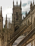 York Minster Abbey Gothic Cathedral Stock Photo