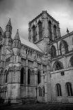York Minster in black and white royalty free stock images