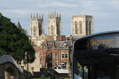 York Minster and bus Stock Image