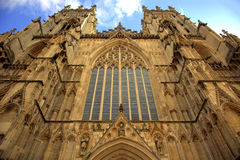 York Minster Cathedral. One of the largest gothic cathedrals in Europe - York Minster Royalty Free Stock Photography