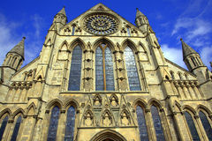 York Minster Cathedral. One of the largest gothic cathedrals in Europe - York Minster Stock Images