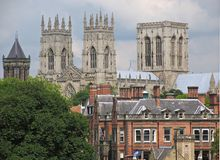 York Minster cathedral. Cathedral of York Minster, York, England Royalty Free Stock Photography