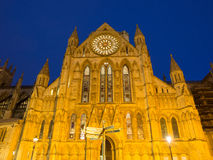 York Minster Cathedral At Night Stock Photography
