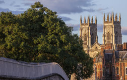 York Minster and the City Wall Royalty Free Stock Photo