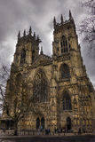 York Minster on a cloudy evening, Spring 2013 Stock Photo