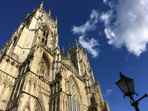 York Minster, England, UK. Looking up at the historic York Minster, England, UK Royalty Free Stock Image