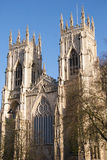 York Minster Front Elevation Stock Photo