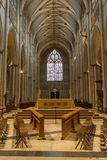 York Minster gothic style cathedral in York, UK- inside view. Inside view of the York Minster gothic style cathedral in York, UK Stock Image
