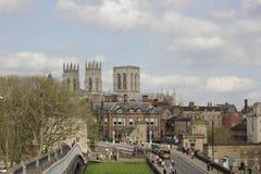 York Minster, Grande-Bretagne, en avril photos stock