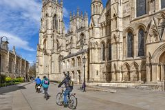 York Minster, the historic cathedral built in gothic architectural style and landmark of the City of York in England, UK royalty free stock photos