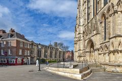 York Minster, the historic cathedral built in gothic architectural style and landmark of the City of York in England, UK royalty free stock images