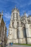 York Minster, the historic cathedral built in gothic architectural style and landmark of the City of York in England, UK stock photography