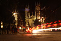 York Minster la nuit Photographie stock libre de droits
