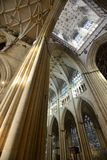 York Minster nave and tower Royalty Free Stock Photos