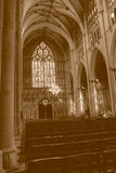 York Minster Nave West Window HDR sepia tone Stock Photography