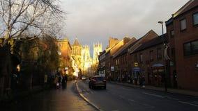 York Minster nel tramonto Fotografia Stock Libera da Diritti