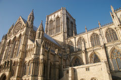 York Minster in sunshine. York Minster on a sunny winters day stock image