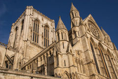 York Minster in sunshine. York Minster in winter sunshine Royalty Free Stock Image