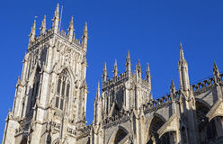 York Minster. The towers of the historic York Minster in York, England Stock Image