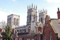 York Minster View Two. A view of York Minster from Bootham Bar, York, North Yorkshire Stock Photo