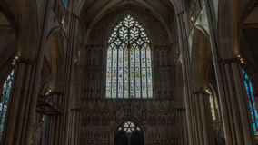 York Minster West Window Heart Of York low angle HDR Royalty Free Stock Photography