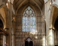 York Minster West Window Interior Heart Of York Royalty Free Stock Photography
