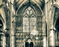 York Minster West Window Interior Heart Of York HDR split toning royalty free stock photos