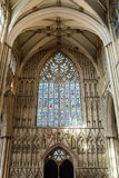 York Minster West Window Interior Heart Of York low angle B Stock Images