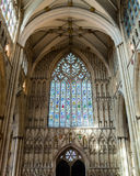 York Minster West Window Interior Heart Of York low angle A Stock Photography