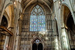 York Minster West Window Interior Heart Of York low angle Royalty Free Stock Images