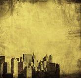 York nowa linia horyzontu Grunge wizerunek royalty ilustracja