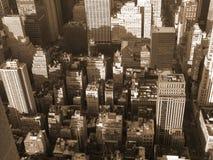 York-NY novo no sepia Fotografia de Stock