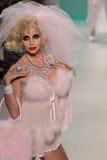 YORK, NY - SEPTEMBER 10: Camille Grammer walks the runway at the Betsey Johnson fashion show Stock Photo