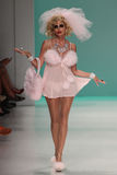YORK, NY - SEPTEMBER 10: Camille Grammer walks the runway at the Betsey Johnson fashion show Royalty Free Stock Images