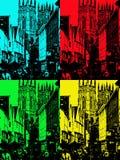 York, Oud zo goed York stelden zij het voor 4 keer Vector Illustratie