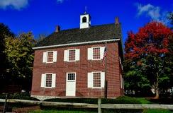 York, PA: 1754 koloniaal Gerechtsgebouw stock foto's