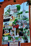 York, PA: Wall Mural on Market Street Royalty Free Stock Images