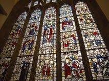 Målat glassfönster i York Royaltyfria Bilder