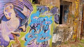York Redoubt Graffiti Stock Photography