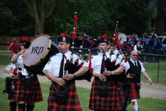 The York regional Pipe Band Royalty Free Stock Image