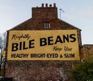 York, Regno Unito - 11/18/2017: Il murale famoso i dei fagioli della bile Fotografia Stock Libera da Diritti